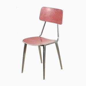 Italian Red Aluminum Chair, 1950s
