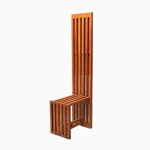 Italian Solid Wood Chair Mod Ara by Lella and Massimo Vignelli for Driade, 1974