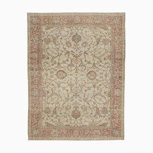 Large Vintage Beige and Rose Carpet, 1960s