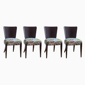 Chaises de Salon Modèle H 214 Vintage Art Déco par Jindřich Halabala pour UP Závody, Set de 4