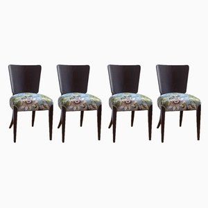 Vintage Art Deco Model H 214 Dining Chairs by Jindřich Halabala for UP Závody, Set of 4