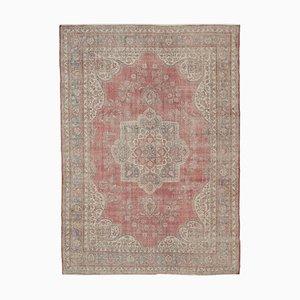 Roter Großer Vintage Teppich, 1950er
