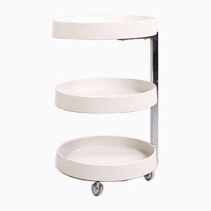 Spage Age Trolley Side Table With Wheels