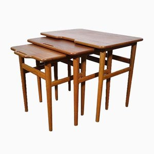 Teak Side Tables from Jason Møbler, 1960s, Set of 3