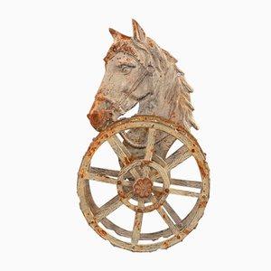 Antiker Pferd Gartenschlauchhalter