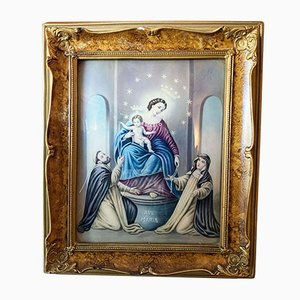 Vintage Wood Frame With Religious Painting, 1940