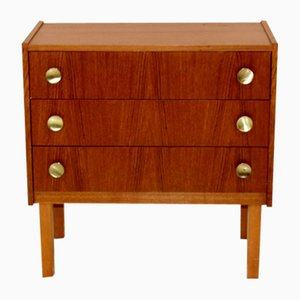 Scandinavian Teak & Beech Chest of Drawers, 1960s
