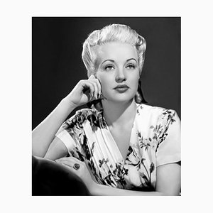Betty Grable, Archival Pigment Print Framed in Black by Everett Collection