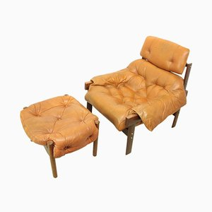 Mid Century Chair and Footstool by Percival Lafer, 1970s