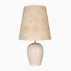 Travertine Marble Table Lamp, 1970s