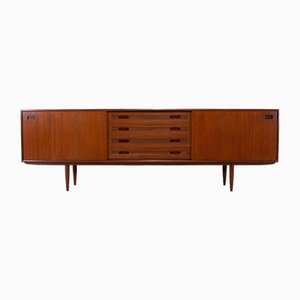 Scandinavian Style Sideboard with Sliding Doors, 1960s