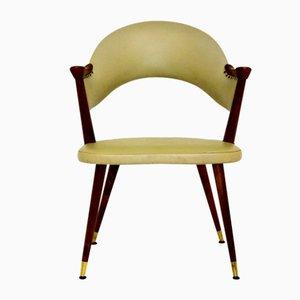 Schwedischer Kunstleder Sessel, 1950er