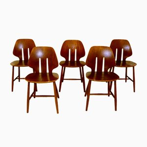 J67 Dining Chairs by Einar Johansen for FDB, 1960s, Set of 5