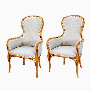 Swedish Lounge Chairs, 1920s, Set of 2