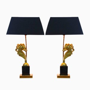 Hollywood Regency Horse Table Lamps, 1970s, Set of 2