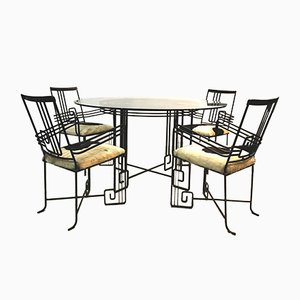 Mid-Century Dining Table & Chairs Set, Set of 5