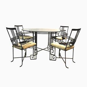 Mid-Century Esstisch & Stühle Set, 5er Set