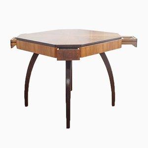 Tavolo da gioco modello H 278 vintage Art Déco di Jindřich Halabala per UP Závody