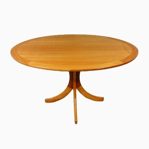 Oval Ashwood Coffee Table, 1960s