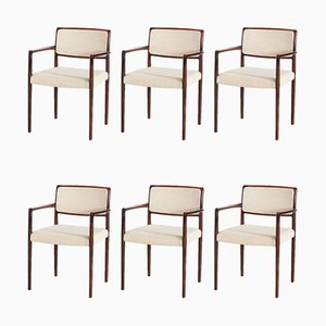 Model 80 Rosewood Dining Chairs by Niels O. Møller for J. L. Mollers, 1960s, Set of 6