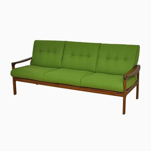 Vintage Danish Teak and Wool Sofa from Komfort, 1960s