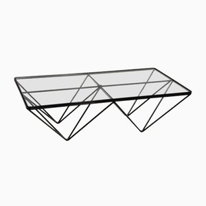 Alanda Steel and Glass Coffee Table by Paolo Piva for B&B Italia / C&B Italia, 1990s