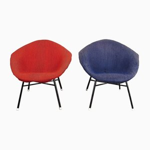 Shell-Shaped Lounge Chairs, 1960s, Set of 2
