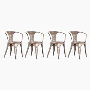Vintage Model A56 Rosewood Dining Chairs by Xavier Pauchard for Tolix, Set of 4