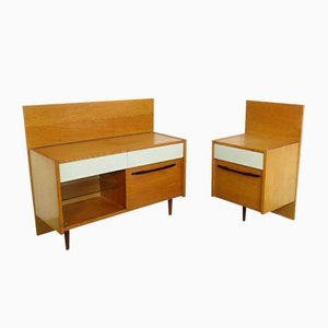 Dressing Table & Nightstand Set from UP Závody, 1960s, Set of 2