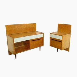 Set de Coiffeuse et Table de Nuit de UP Závody, 1960s, Set de 2
