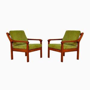 Dänische Armlehnstühle von EMC Furniture A / S, 1960er, 2er Set