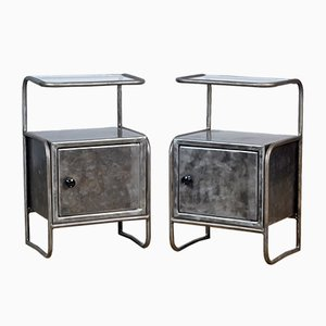 Iron Nightstands, 1950s, Set of 2