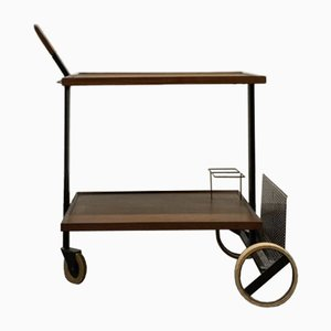 Mid-Century Teak & Steel Trolley