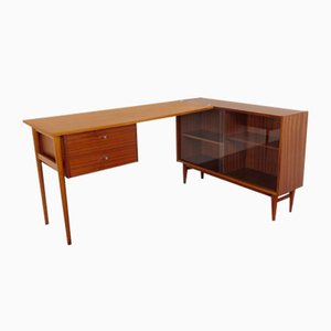 Mid-Century Writing Desk with Bookcase, 1960s