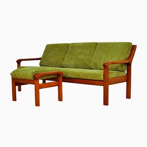 Teak Sofa and Ottoman from EMC Furniture A/S, 1960s, Set of 2