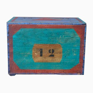 Bohemian Wooden Toy Chest, 1950s