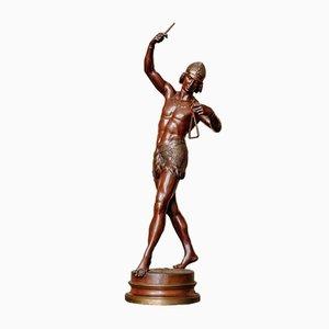 Charles Arthur Bourgeois, Turkish Triangle Player, Bronze, 19th Century
