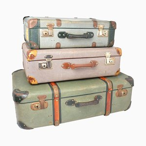 Mid-Century Suitcases, Set of 3
