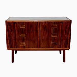 Rosewood & Beech Chest of Drawers, 1960s