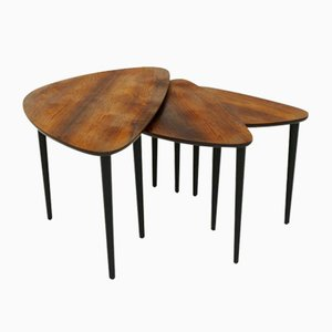 Rosewood Nesting Tables, 1960s
