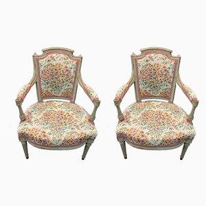 Louis XVI Style Armchairs, Set of 2