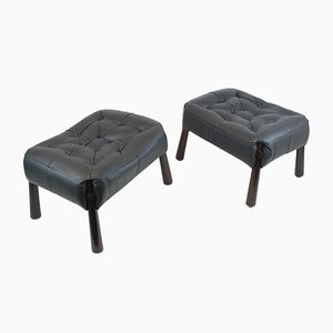 Rosewood Stools by Percival Lafer, 1960s, Set of 2