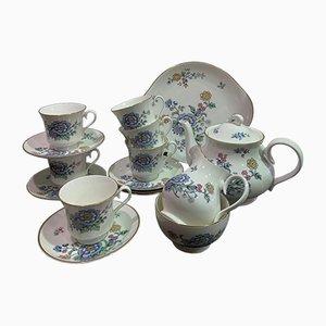 English Porcelain Tea Set from Royal Albert, 1980s, Set of 16