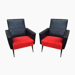 Mid-Century French Armchairs, 1950s, Set of 2