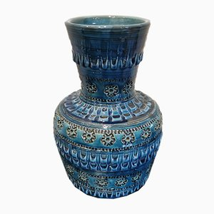 Vintage Blue Boy Vase by Aldo Londi for Bitossi