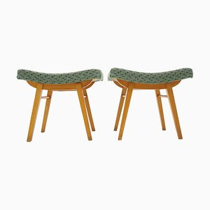 Mid-Century Expo 58 Footstools, Czechoslovakia, 1950s, Set of 2