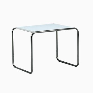 Bauhaus B9 Side Table or Stool in White by Marcel Breuer for Thonet