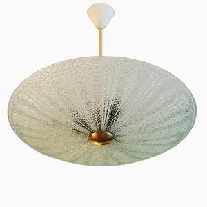 Mid Century Textured Glass Ceiling Light