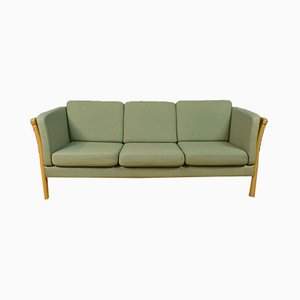 Mid Century Danish Mint Green 3-Seater Sofa