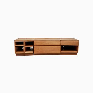 Mid-Century Modular Sideboard Media Unit Record Cabinet from Beaver & Tapley